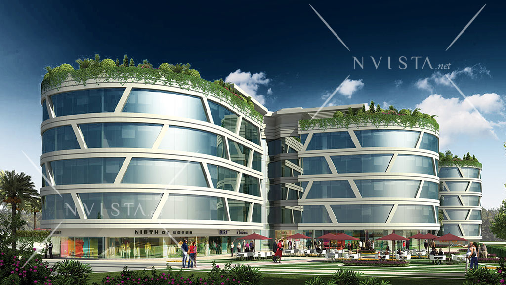 An investment commercial complex in Kagithane in the center on Istanbul